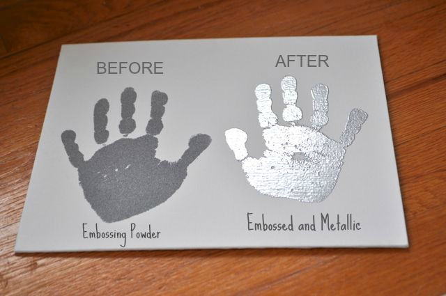 DIY Metallic Handprints