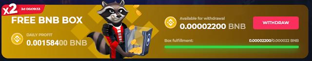 free bnb box betfury