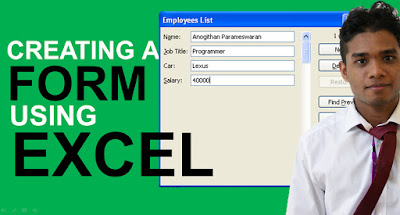 Creating a Form in Excel - A 3 Minute Tutorial
