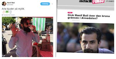 Hanif bali erkanner hemlig kontakt med hogerpopulistiskt sajt