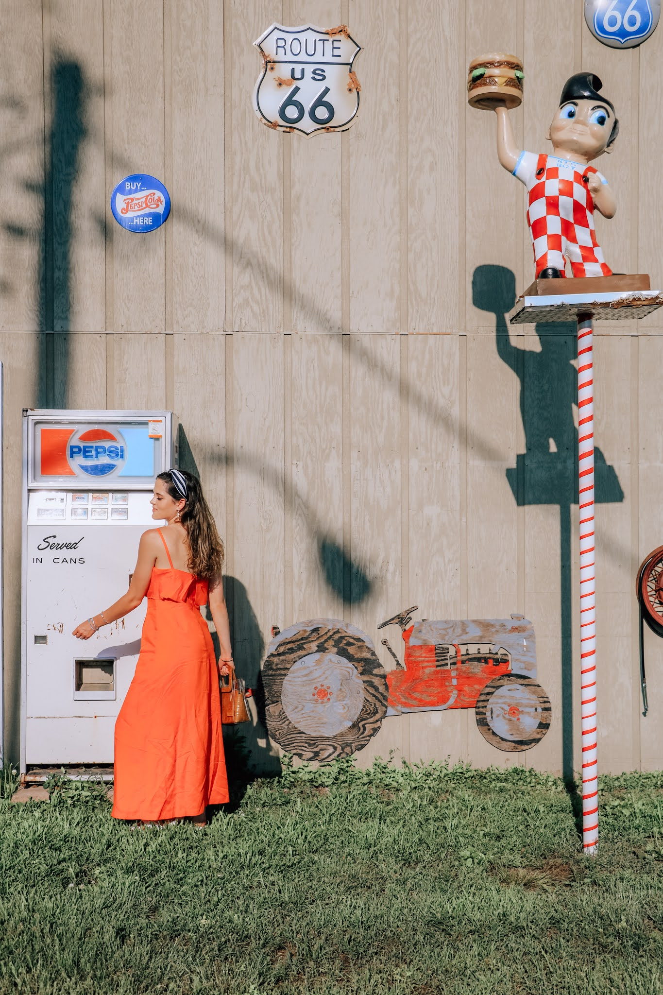 Style influencer Kathleen Harper's Route 66 photo shoot.