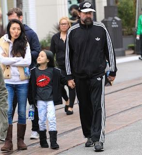Toshimi Stormare with her husband Peter and daughter