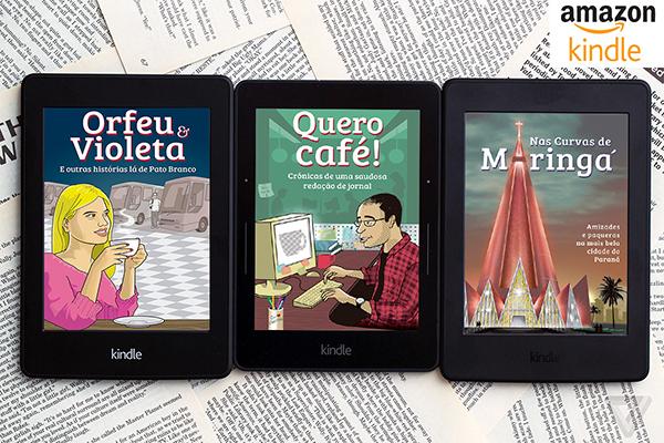 Os três e-books de crônicas do jornalista Luiz Fernando Cardoso