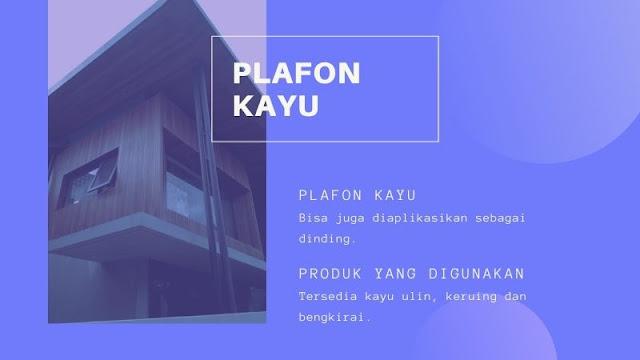 Jual Plafon Kayu Kota Bukit Tinggi