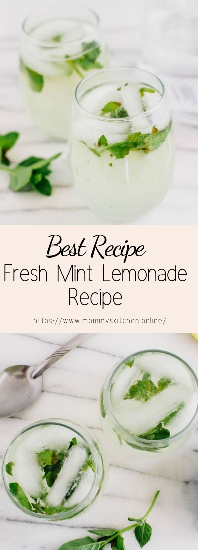 Fresh Mint Lemonade Recipe #healthydrink #easyrecipe #cocktail #smoothie
