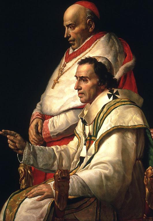 Pio VII reinou de 1800 a 1823. Pio VII era o Papa no tempo do anúncio.  Tudo parece indicar que não se referia a ele.  Jacques-Louis David, (1748-1825), Museu de Arte de Filadélfia.
