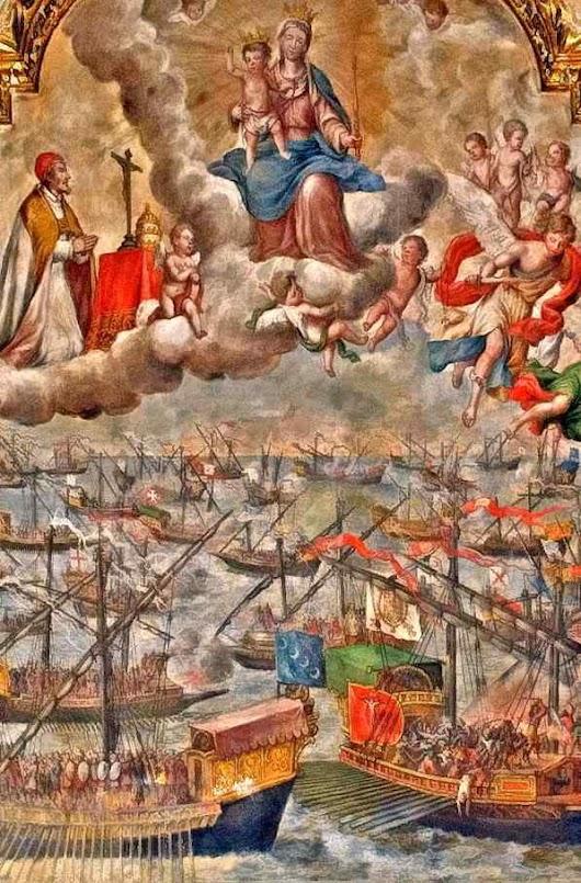 Nossa Senhora vitoriosa em Lepanto. Igreja de Santa Maria Madalena, Sevilha, Lucas Valdez (1661 - 1725)