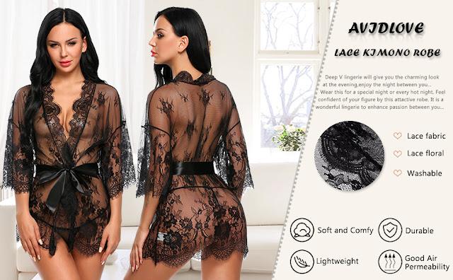 Avidlove Women's Lace Kimono