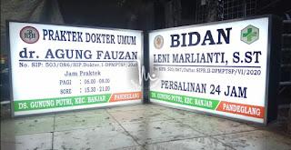 Neonbox Acrylic Dokter & Bidan Pandeglang Banten