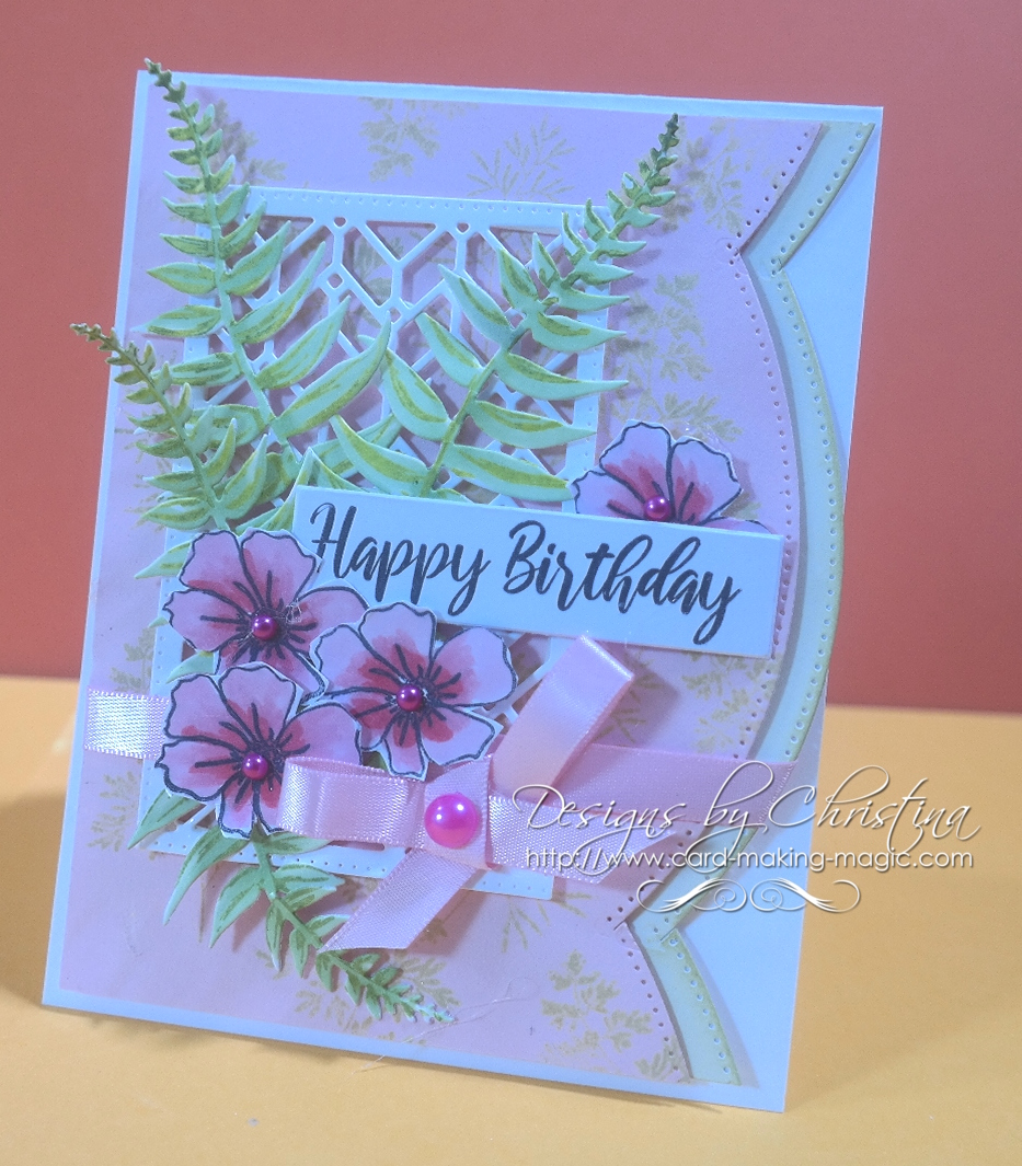 Card Making Magic A5 Stamp Set Sentiments #2 Lacey Collection Set of 10