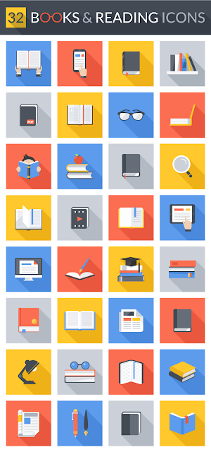 48 Books and Reading Icons for Web & Mobile For Free Download: Freebies