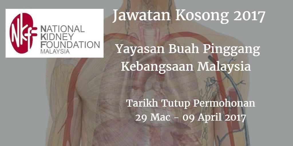 Jawatan Kosong NKF 29 Mac - 09 April 2017
