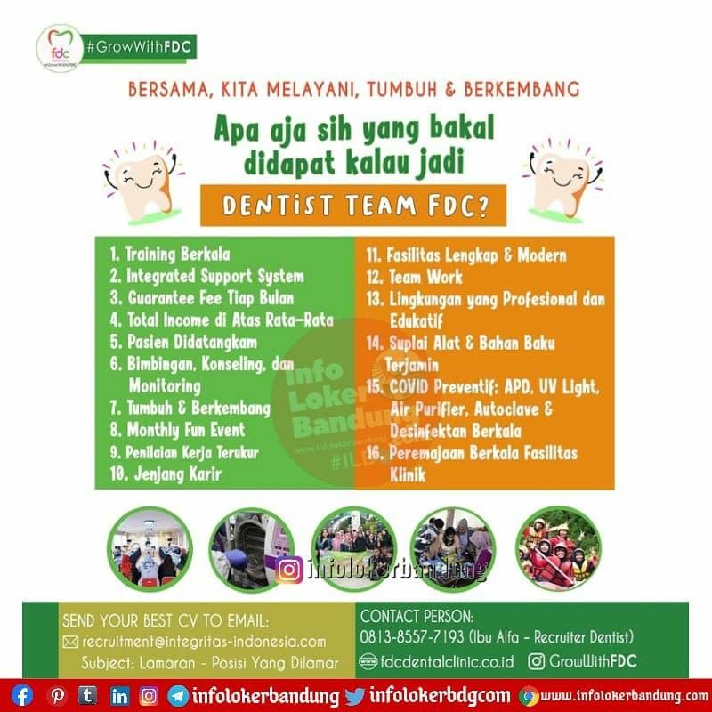 Lowongan Kerja Dentist dan Perawat Gigi FDC Dental Clinic Bandung April 2021