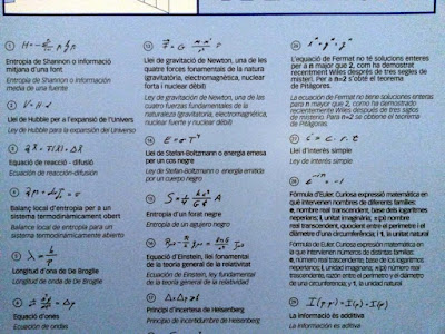 Equations of Science in Cosmocaixa