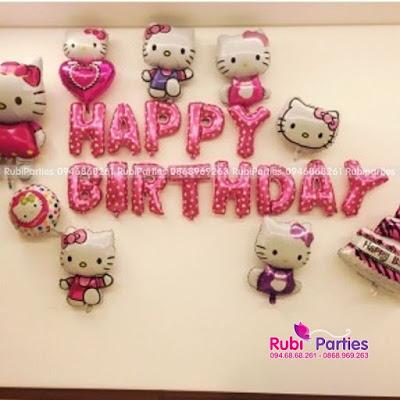 Set bong sinh nhat chu de Hello Kitty KT415