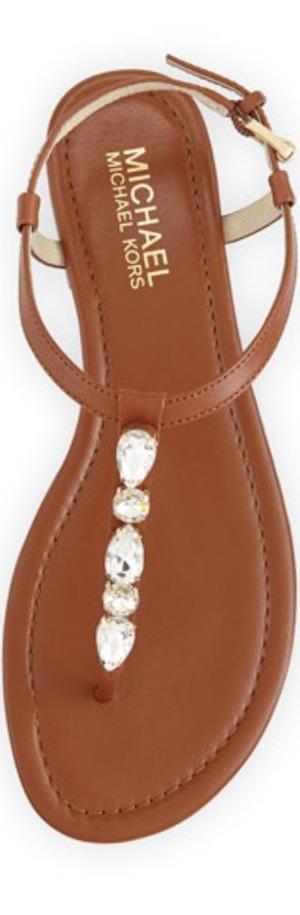 MICHAEL Michael Kors Jayden Embellished Thong Sandal