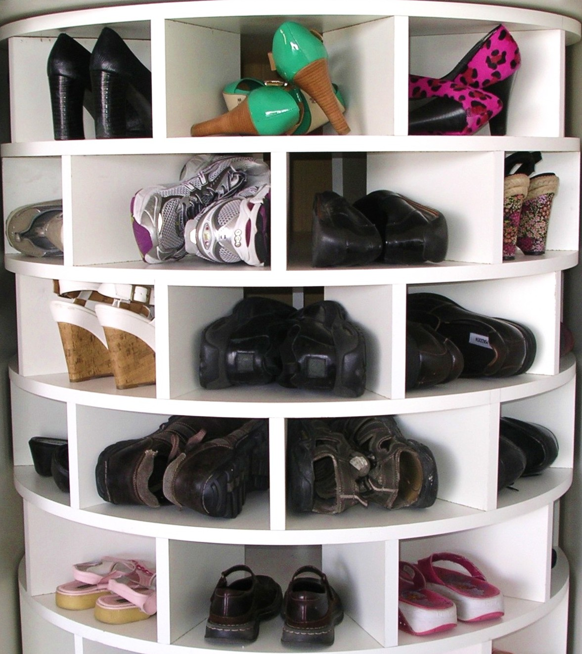 Tier Shoe Rack Black