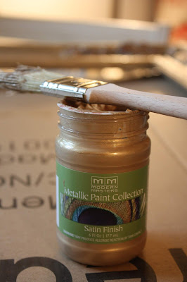 metallic paint pale gold