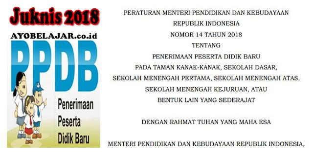 Juknis PPDB Oleh Menteri Pendidikan Dan Kebudayaan RI Nomor 14 (JUKNIS PPDB 2019/2020)