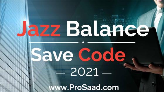Jazz Balance Save Code 2021