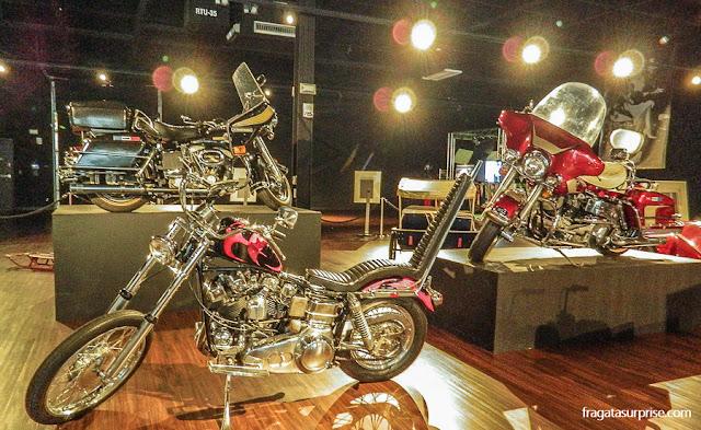 Motos de Elvis Presley expostas no museu de Graceland