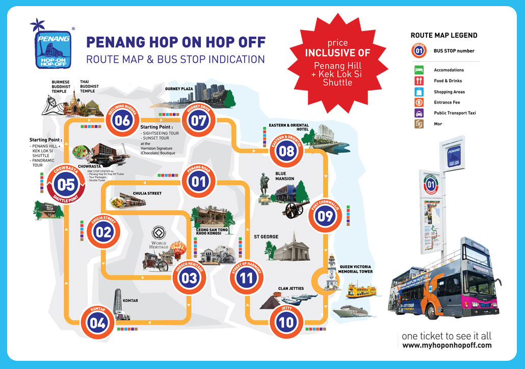 Penang Hop on Hop Off Bus