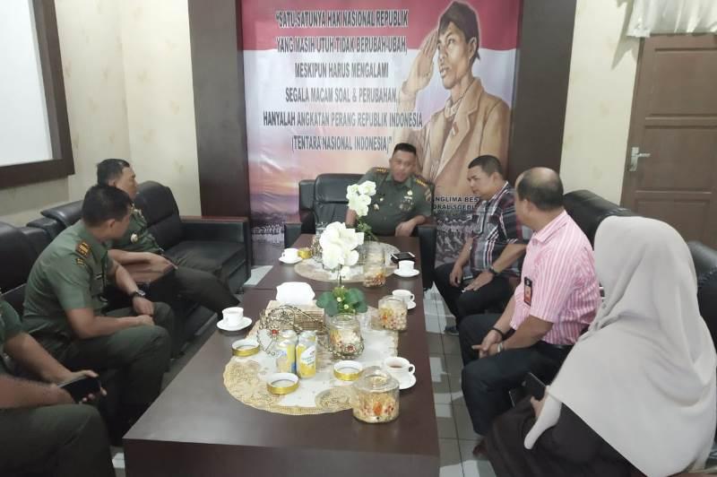 Dandim 0315/Bintan Sambut Kunjungan KPU Tanjungpinang