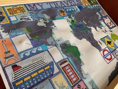 Cross stitch personal travel map