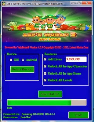 Download Free Lep's World 3 Hack Unlimited Lives, Unlock All In Items,All Level,All In App Character 100% working and Tested for IOS and Android.