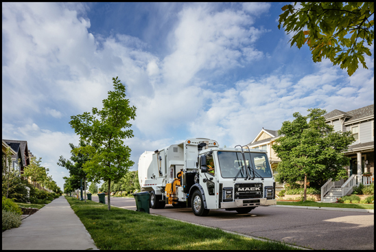 Mack Trucks' leading refuse vehicle, the Mack® LR model, now offers improved safety and driver productivity features for its customers.
