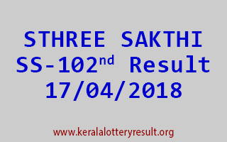 STHREE SAKTHI Lottery SS 102 Result 17-04-2018