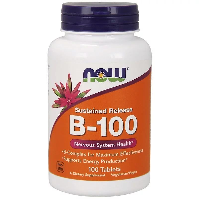 Now Foods, B-100, с замедленным высвобождением, 100 таблеток