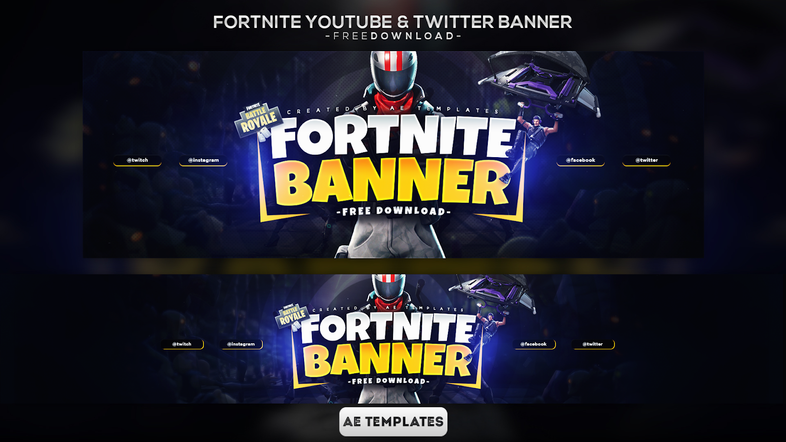 Fortnite Banner Template   AE Templates