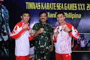 Panglima TNI  Sambut Kedatangan Tim Karate Indonesia