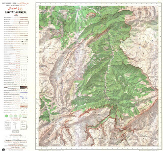 Zaouiat Ahnsal Morocco 50000 (50k) Topographic map free download