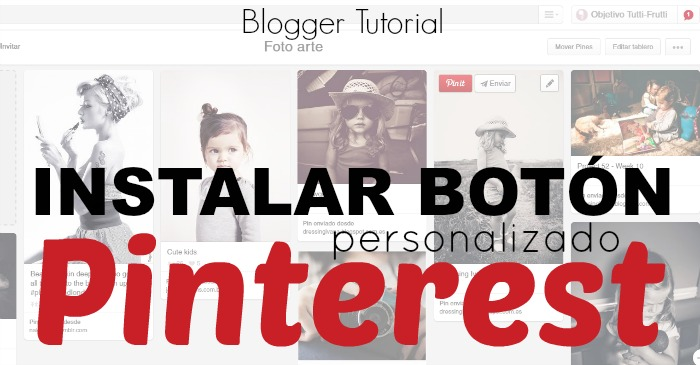 Instalar Botón Pin it en Blogger