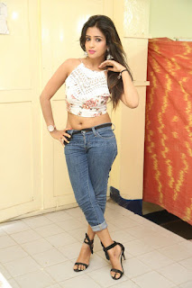 Deekshita Parvathi in a short crop top and Denim Jeans Spicy Pics Beautiful Actress Deekshita Parvathi January 2017 CelebxNext (243).JPG