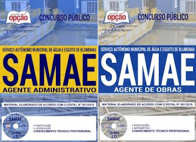 apostila para concurso SAMAE de Blumenau 2018 (Agente Administrativo)
