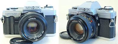 Minolta X-370 (Chrome) Body #782, Minolta MD 50mm F2 #519