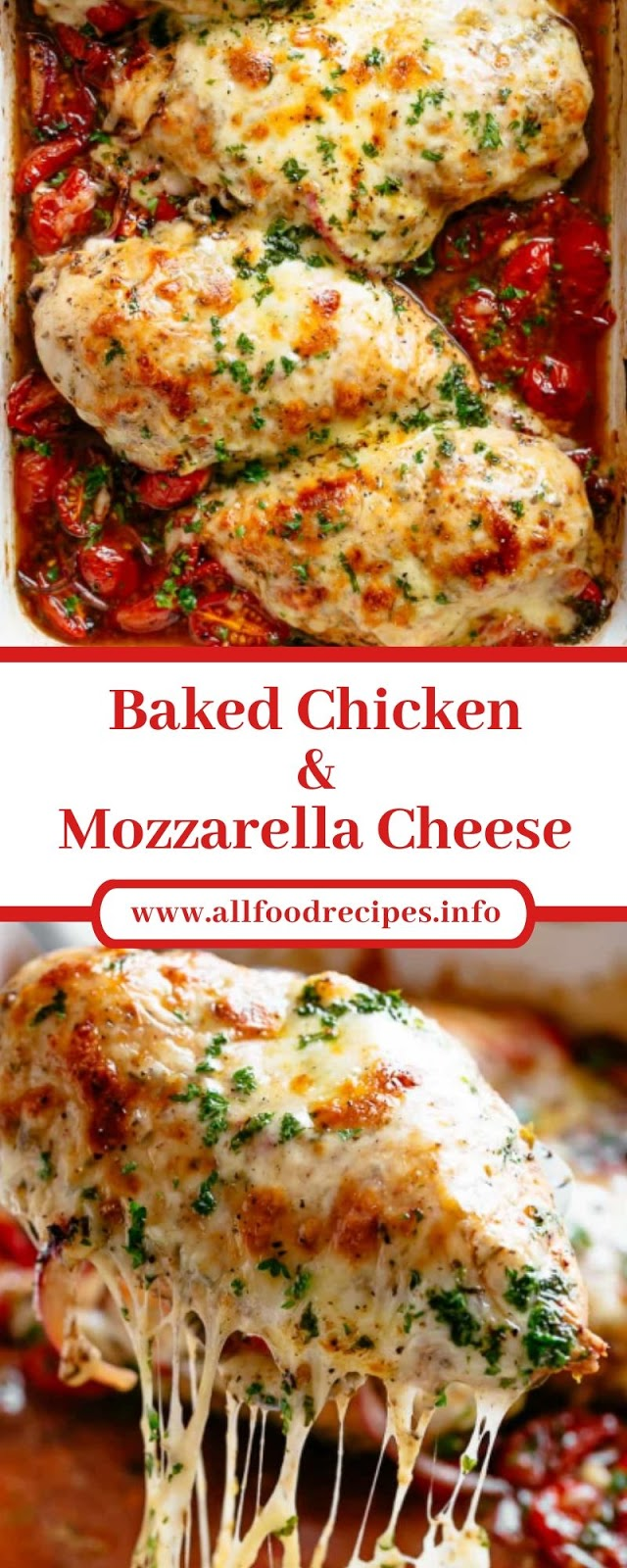 Baked Chicken & Mozzarella Cheese