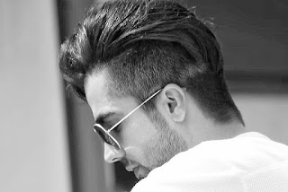 Hardy sandhu cool long hairstyle in horn blow song, the slick back.