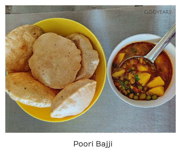 Kerala breakfast - poori bhaji