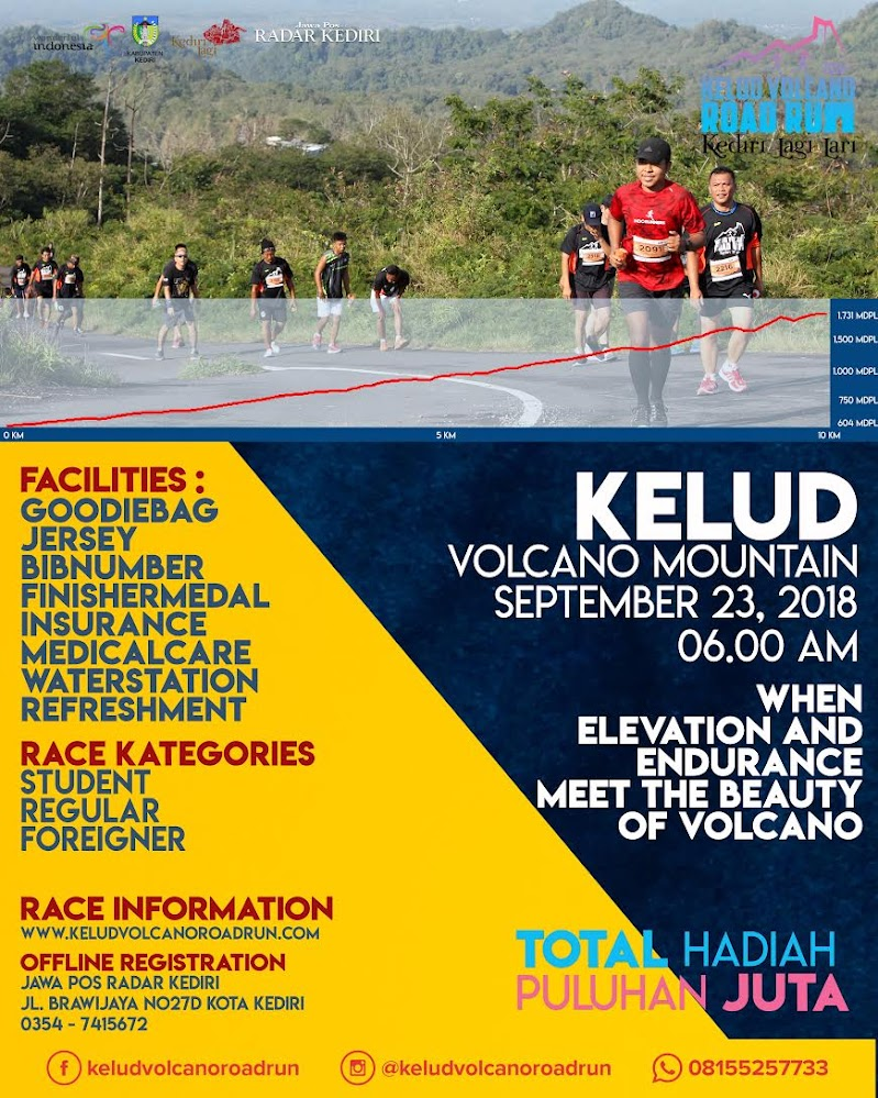 Kelud Volcano Road Run • 2018