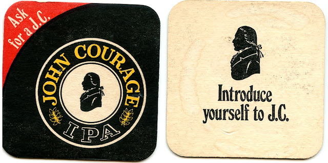 Beer mat - John Courage 1970s