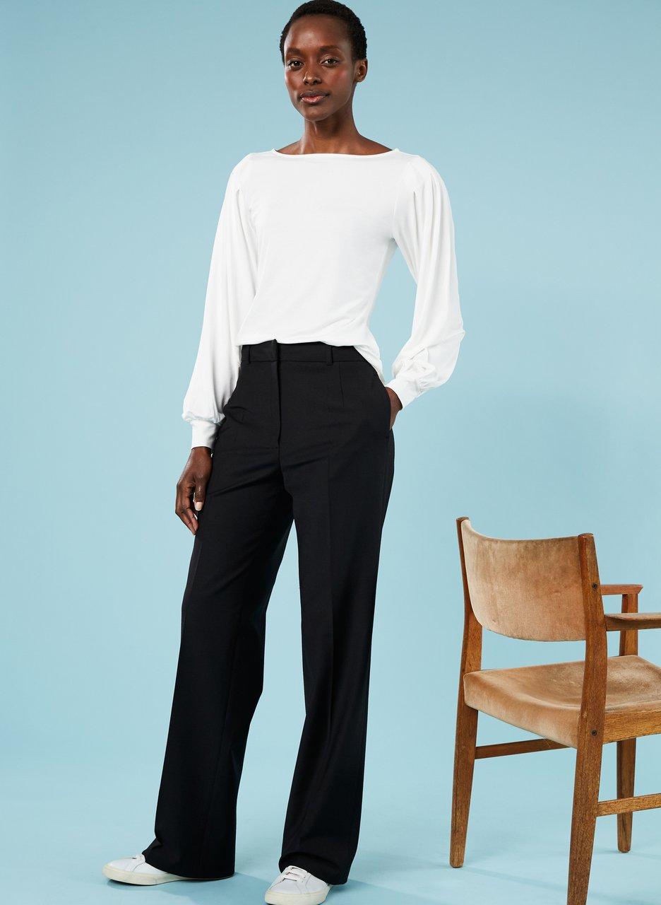 my midlife fashion, baukjen Erika newlife wide leg trouser