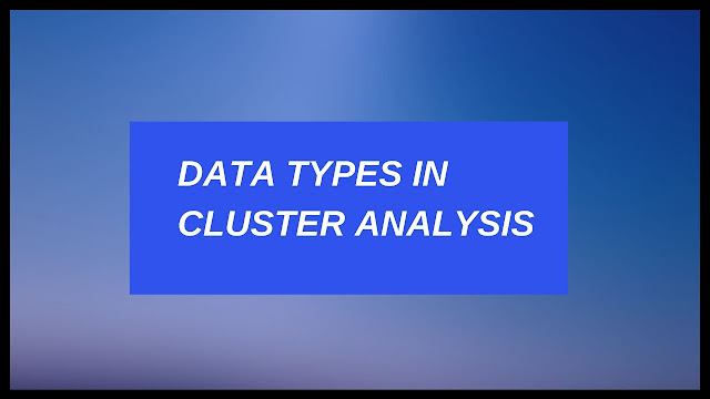 Data Types In Cluster Analysis