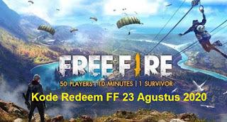 Kode Redeem FF 23 Agustus 2020