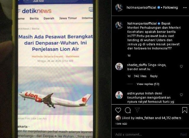 Keras soal Virus Corona, Hotman Paris Minta Jokowi Tolak Turis China
