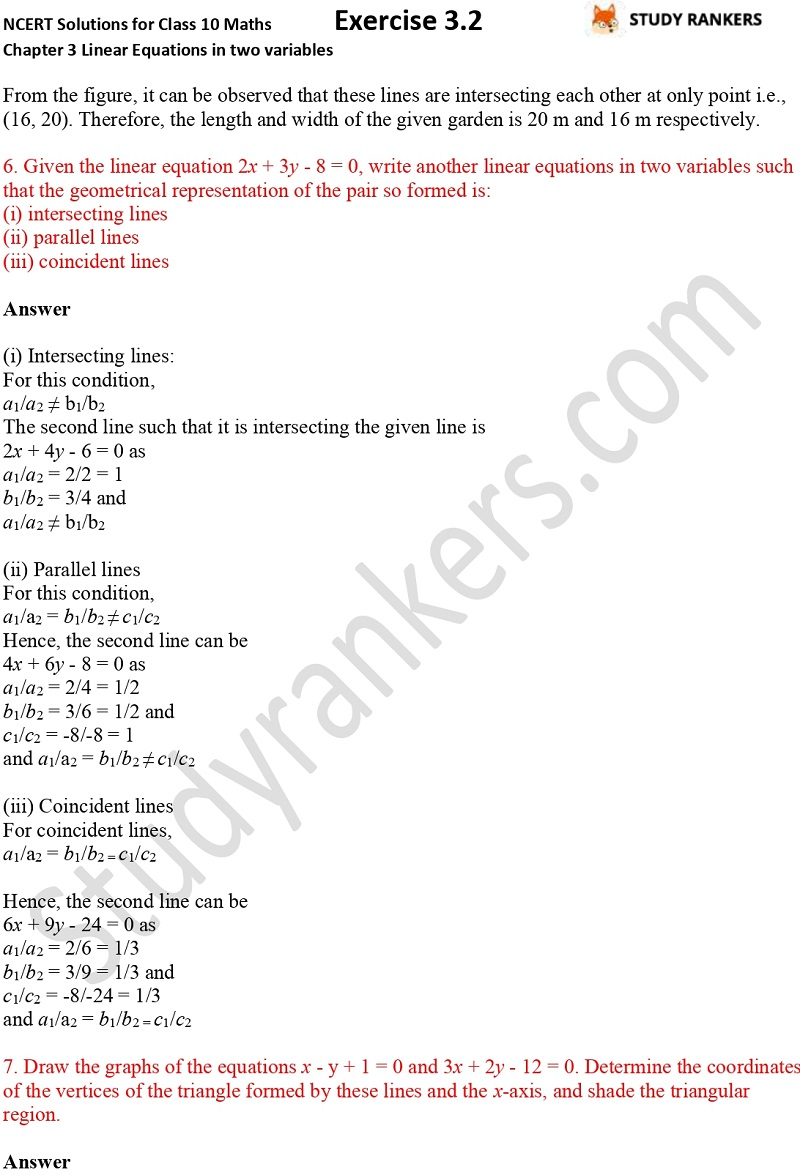 NCERT Solutions for Class 10 Maths Chapter 3 Pair of Linear Equations in Two Variables Exercise 3.2 Part 9