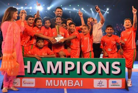 Dr. BabaSaheb Ambedkar Municipal School lift KBD Juniors trophy in Mumbai with final score of 33-7